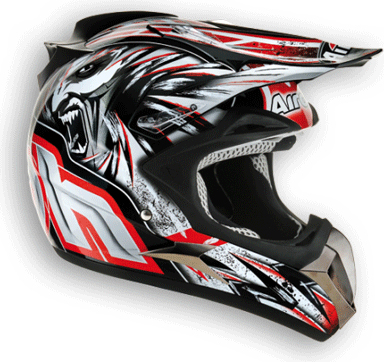 Airoh Dome C5 off-road helmetred gloss