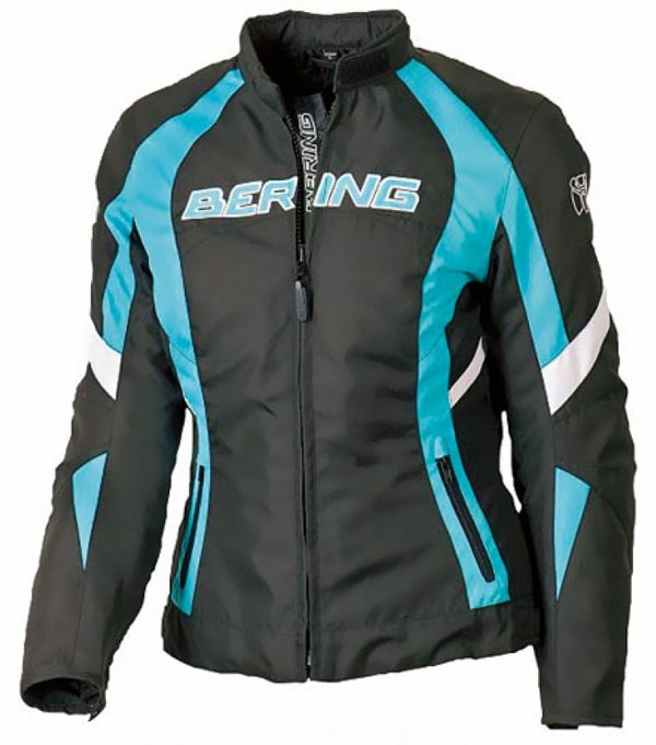 Motorcycle jacket woman Approved Bering Douchka Black Blue White