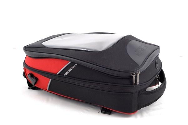 Bagster driver tank bag black-red