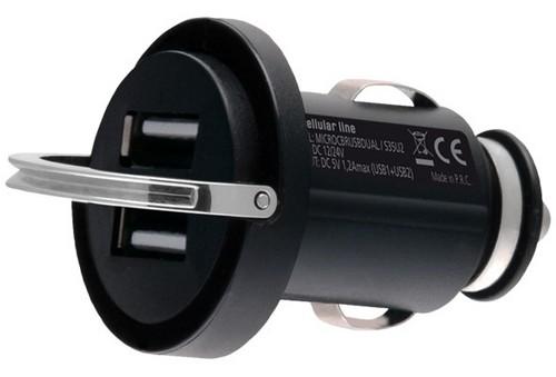 Carica Batterie accendissigari con doppia presa USB CellularLine