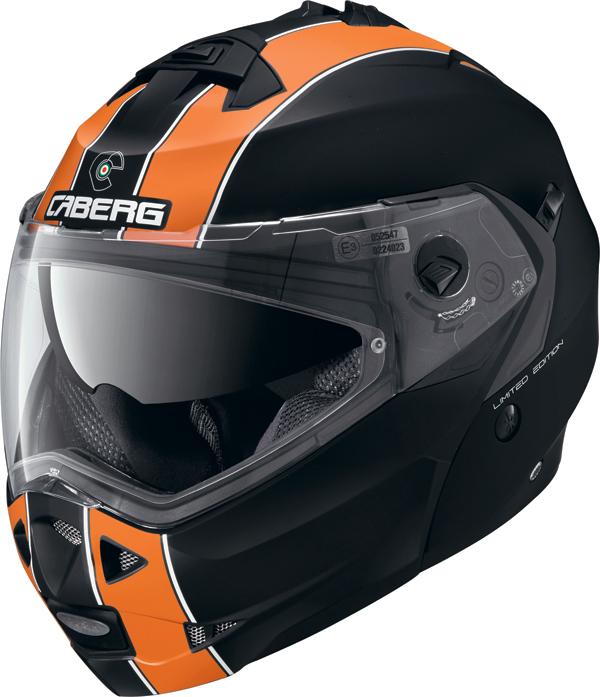 Casco modulare Caberg DUKE LEGEND nero opaco arancio