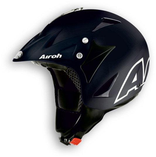 Casco moto off-road Airoh Evergreen Color nero opaco