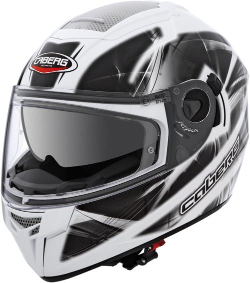 CABERG Ego Ultralight full-face helmet col. white-black