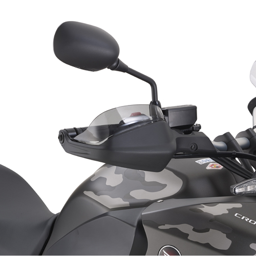 Extensions for smoked Plexiglas guards Givi for Honda