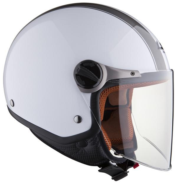 Casco moto jet LS2 OF560 Elite bianco nero