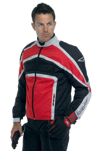 Prexport E-Motion 3 layers jacket Red Gunmetal Silver