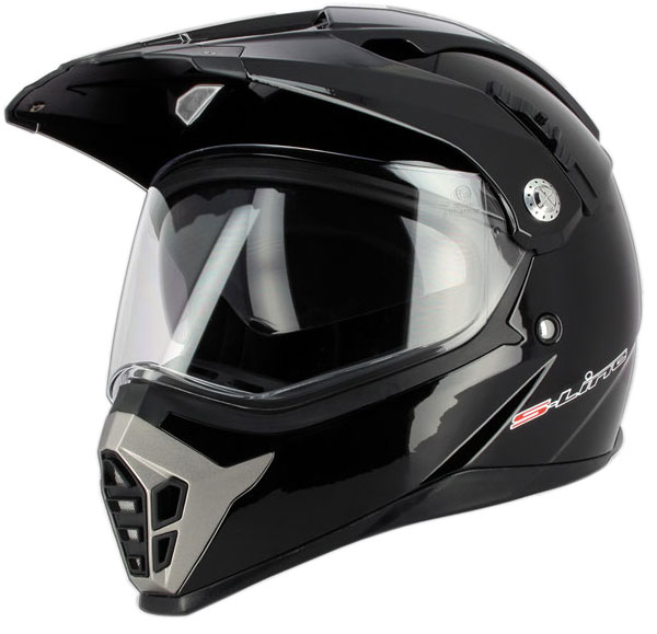 Casco cross S-Line Enduro Dual Sport S610 con Air Pump Nero