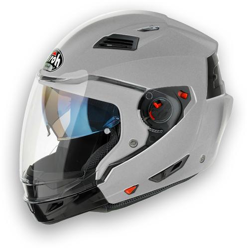 Casco moto crossover Airoh Executive Color silver metal