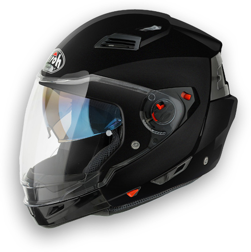 Casco moto crossover Airoh Executive Color nero metal