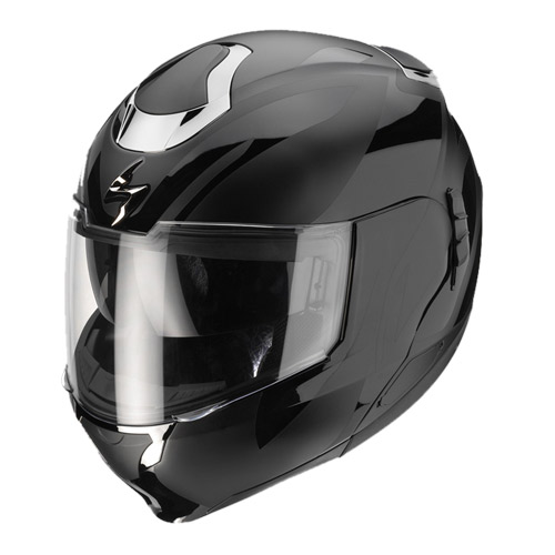 Casco modulare Scorpion Exo 900 Air Virtuose Nero Lucido-Opaco