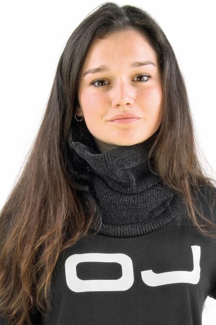 OJ Chenille neck warmer black