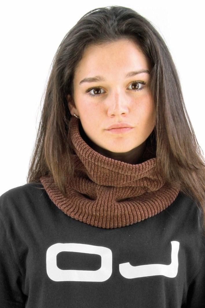OJ Chenille neck warmer brown