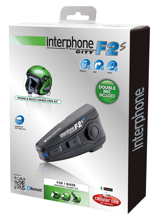 Interfono Cellular Line Interphone F2S Plus per un casco