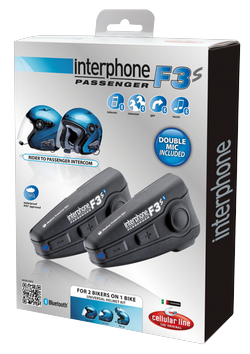 Coppia di interfoni Bluetooth F3S Plus per 2 caschi