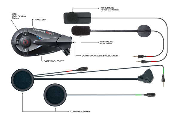 Cellular Line F5MC bluetooth intercom two helmets