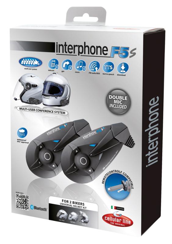 Interfono Cellular Line F5S kit coppia conferenza max 6 utenti