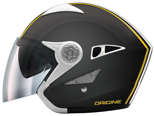 Origine Falco Brera jet helmet with sun visor Black-Yellow