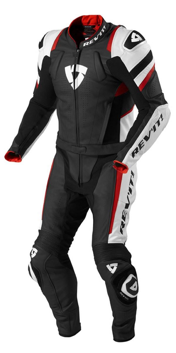 Tuta moto Rev'it Stellar Nero Rosso