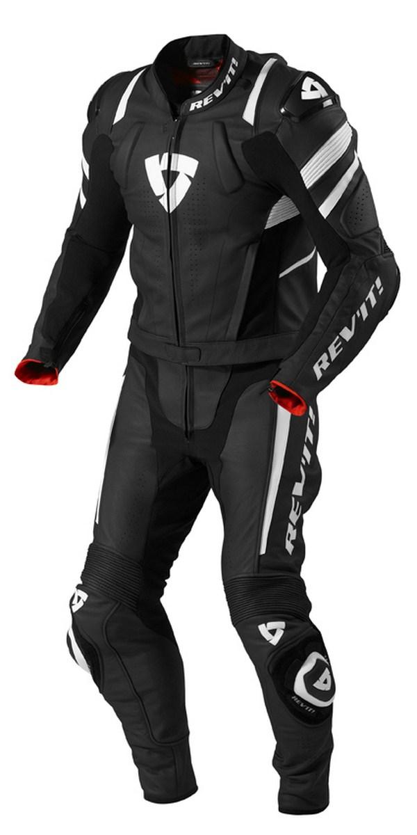 Biker motorcycle jacket Rev'it Stellar Black White