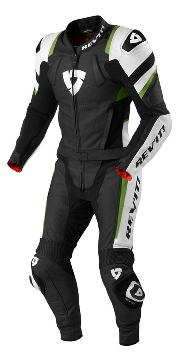 Biker motorcycle jacket Rev'it Stellar Black Green