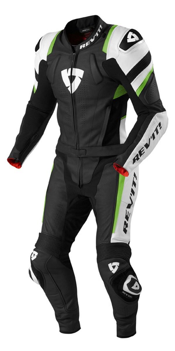 Tuta moto Rev'it Stellar Nero Verde Acido