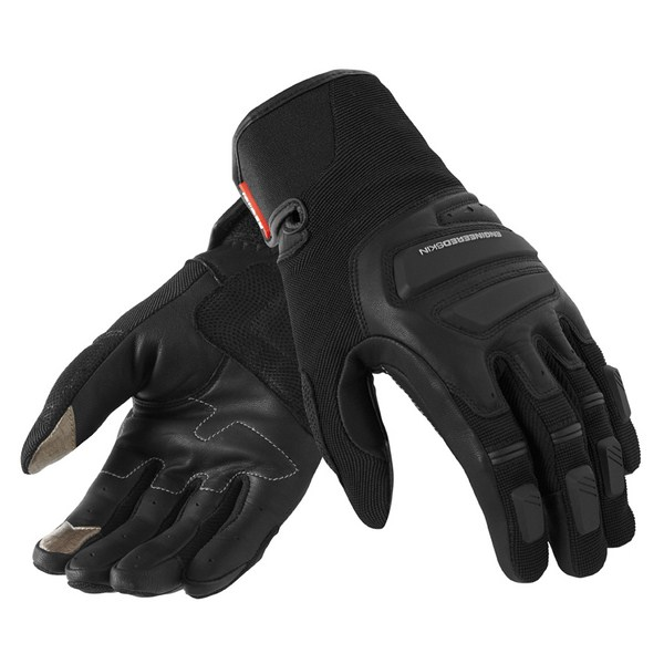 Leather motorcycle gloves Rev'it Summer Neutron Black