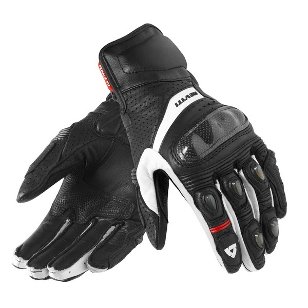 Woman leather motorcycle gloves Rev'it Summer Chevron Black