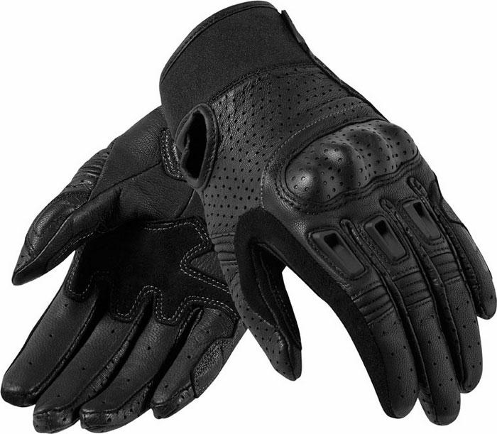 Woman leather motorcycle gloves Rev'It Ladies Black Bo