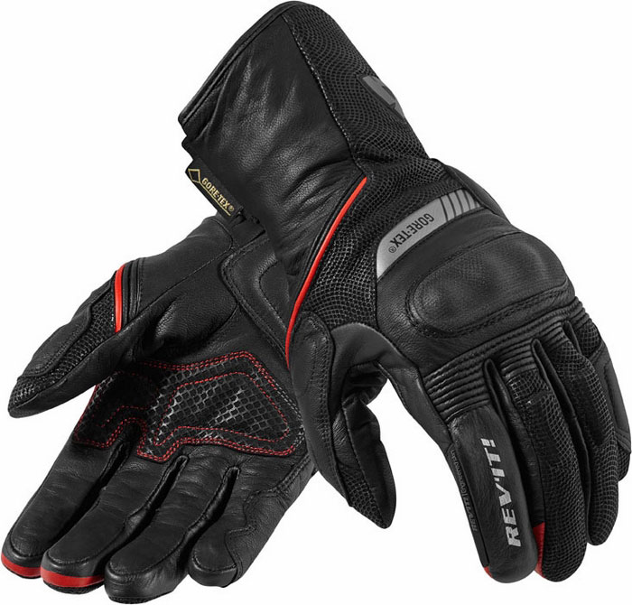 Leather motorcycle gloves Rev'It Roadstar GTX Black