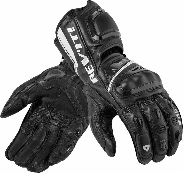 Rev'it Jerez Pro leather gloves black white