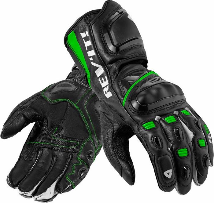 Guanti moto pelle Rev'it Jerez Pro nero verde