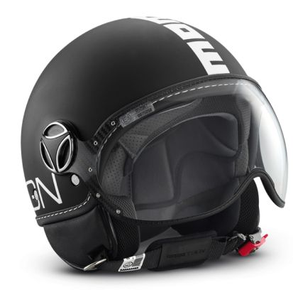 Momo Design Fighter Plus jet helmet Matt Black