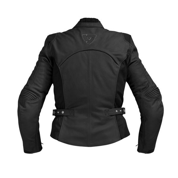 Women's leather motorcycle jacket Rev'it Allure 2 Black