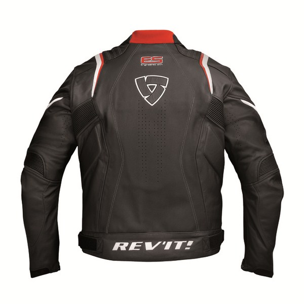 Giacca moto pelle Rev'it Warrior Nero Rosso