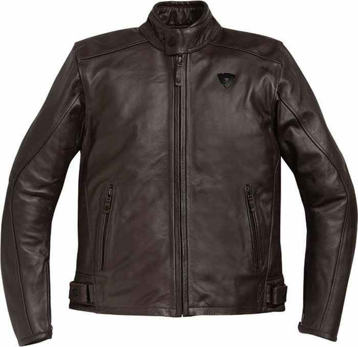 Rev'it Rebel motorcycle leather jacket brown