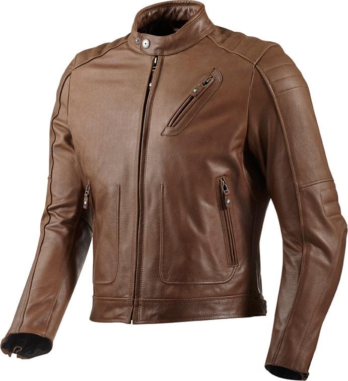 Giacca moto pelle Rev'it Redhook marrone