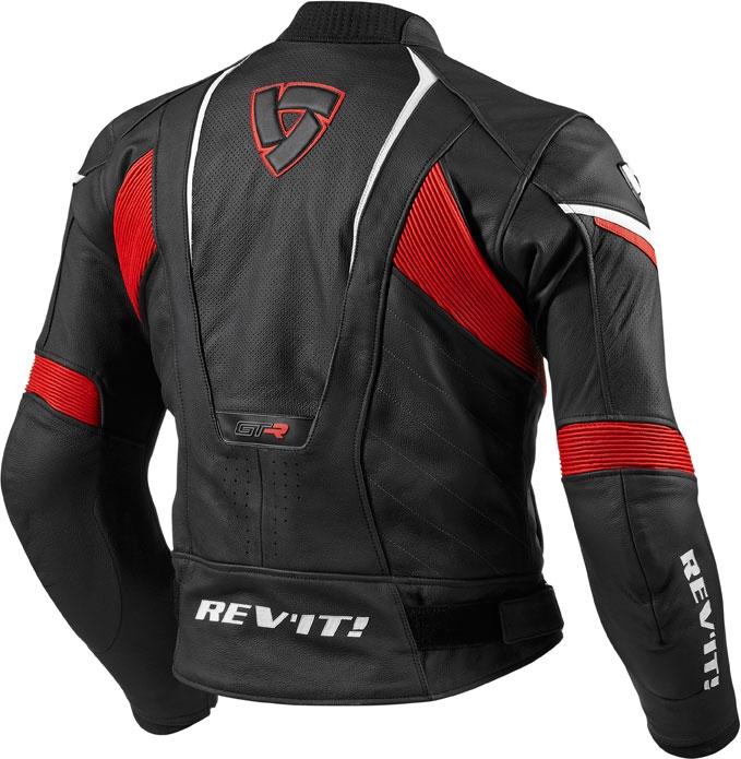 Rev'it GT-R leather jacket black red