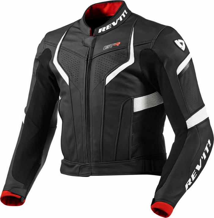 Rev'it GT-R leather jacket black white
