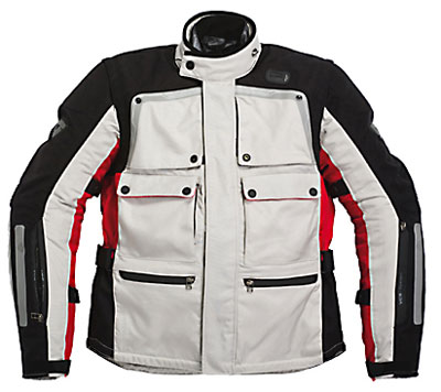 Giacca moto Rev'it Cayenne Pro grigio chiaro-rosso