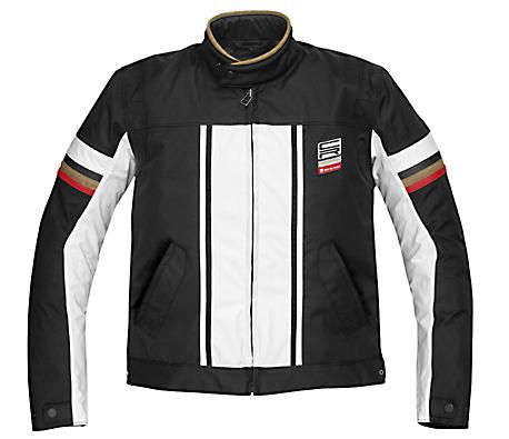 Giacca moto tessuto Rev'it CR nero-bianco