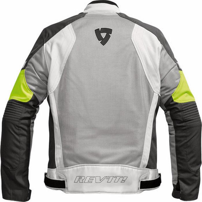 Giacca moto estiva Rev'it Airwave argento-giallo neon