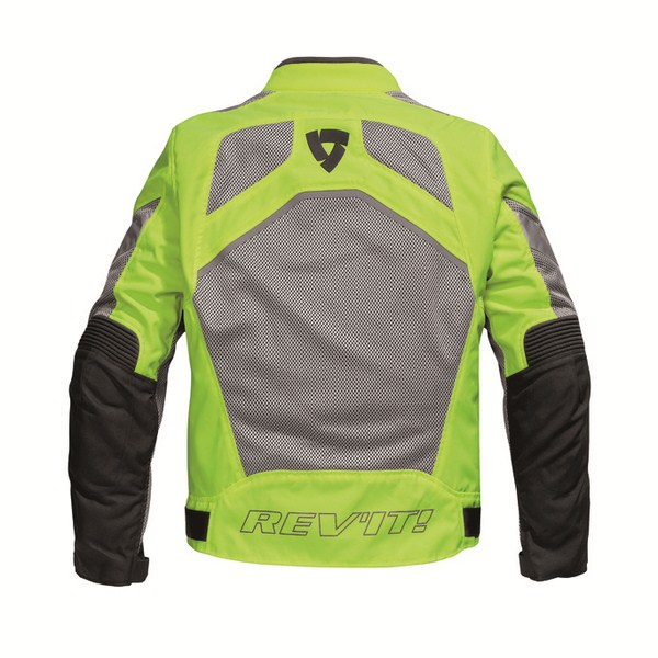 Motorcycle jacket Rev'it Tornado HV Neon Yellow Silver