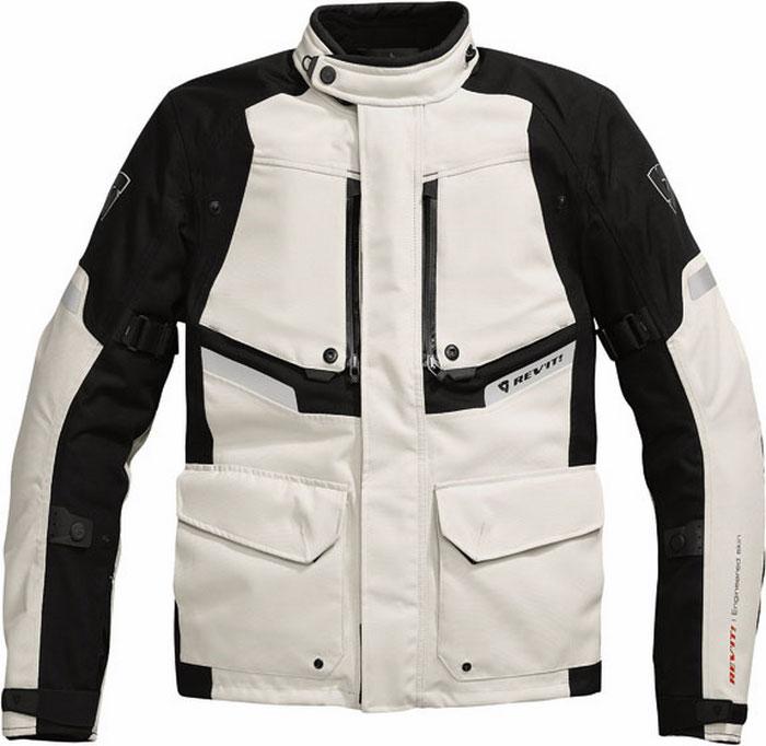 Rev'it Horizon motorcycle jacket light gray-black