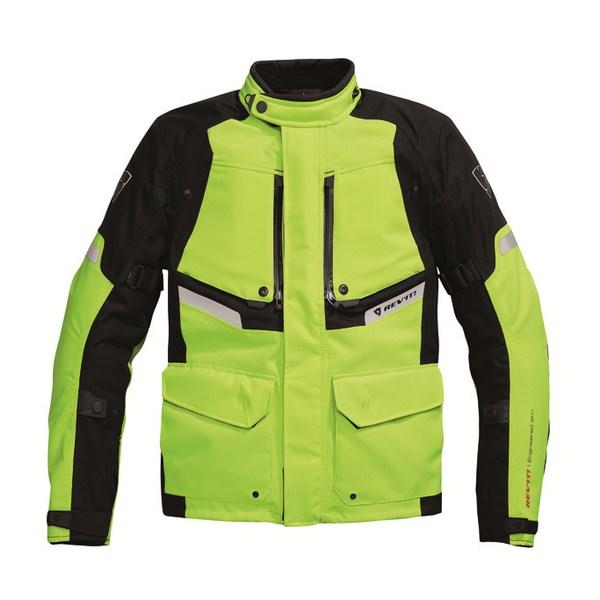 Motorcycle jacket Rev'it Horizon HV Neon Yellow Black