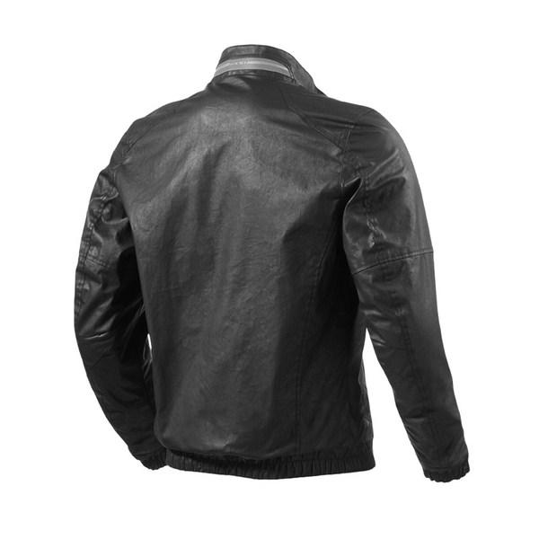 Rialto black motorcycle jacket Rev'it
