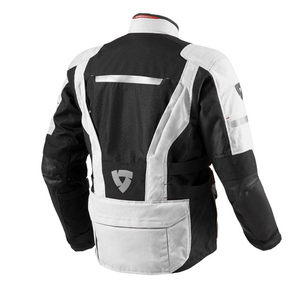 Motorcycle jacket Rev'it Sand 2 Silver Black