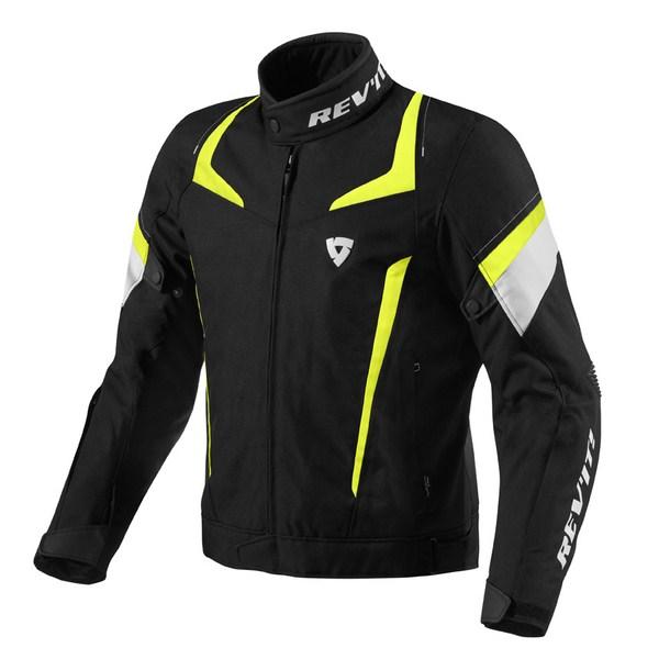 Motorcycle jacket Rev'it Jupiter Black Neon Yellow