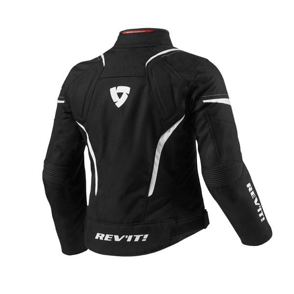 Jupiter woman motorcycle jacket Rev'it Black White