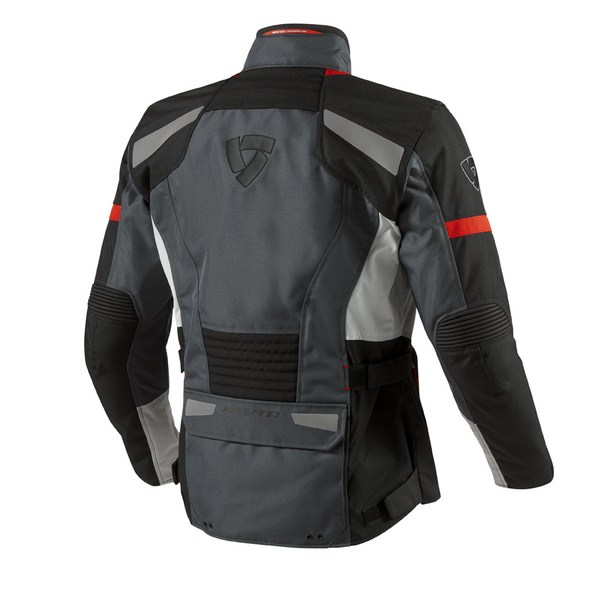 Motorcycle jacket Rev'it Safari Silver Red