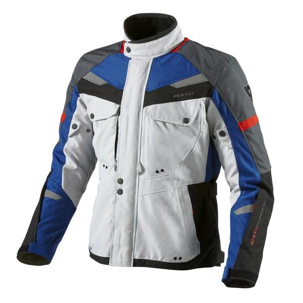 Motorcycle jacket Rev'it Safari Silver Blue